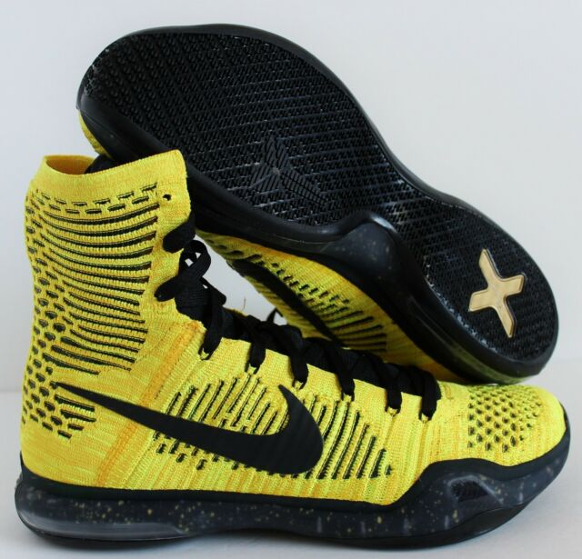 super popular 108df 28eda Nike Kobe X Elite Coda Opening Night Mens Basketball Shoes 10 Yellow 802762  707