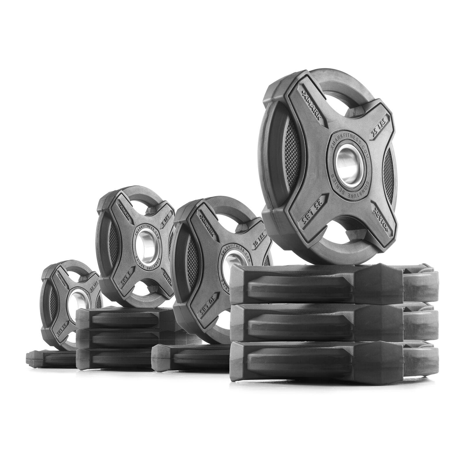 XMark  SIGNATURE Series Olympic Plate Weights (145 lb. Set) SIGNATURE-BAL-145  high quaity