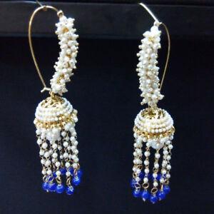 Ethnic-Bollywood-Goldplated-Jhumka-Earring-Set-Traditional-Wedding-Jewelry