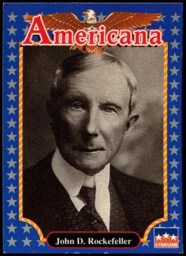 Rockefeller #194 Americana Starline 1992 Trade Card C265 John D
