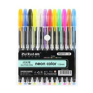 12Pcs-Candy-Color-Diamond-Gel-Pen-School-Supplies-Draw-Colored-Pens-Student-Gift