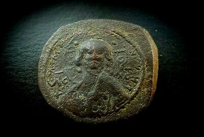Imported From Abroad Byzantine Romanus Iii Portrait Of Christ' Class B Bronze Follis 1028-1034 Ad By Scientific Process