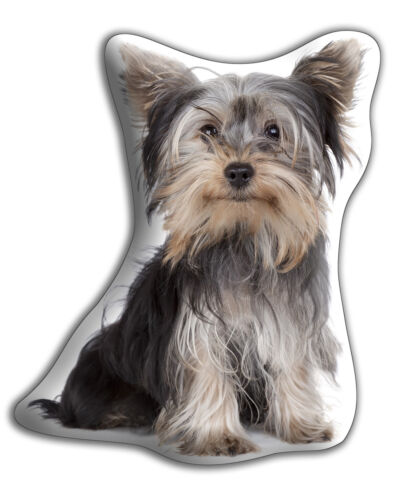 "Yorkshire Terrier Dog Gift – Beautiful Large 'Cuddle Cushion' approx 18"" x 16"""