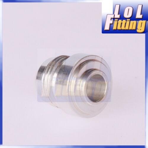 4 AN4 4AN Male Aluminium Weld plug Fitting Round Base Silver