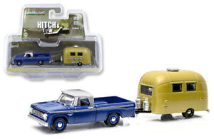 Greenlight-1-64-Hitch-amp-Tow-1966-Dodge-D100-with-Airstream