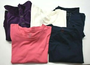 White-Stag-Women-039-s-XL-T-Shirt-Polo-Shirt-amp-Cardigan-Tops-Lot-of-5
