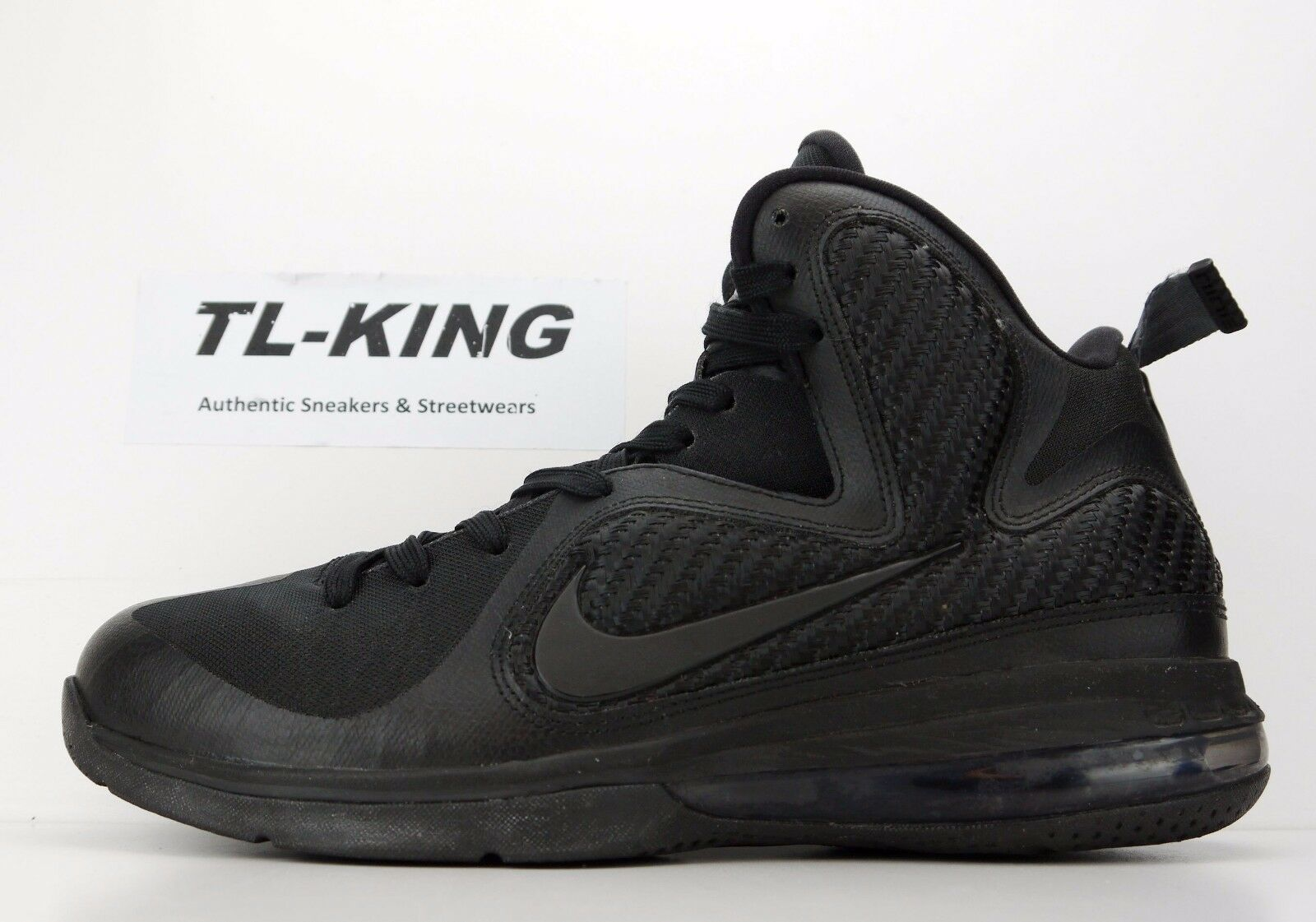 2011 Anthracite Nike LeBron 9 Blackout Anthracite 2011 469764-001 size 9.5 USED 314b6f