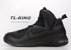 2011 Nike LeBron 9 Blackout Anthracite 469764-001 size 9.5 USED