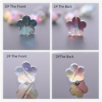 5Pcs 13X8mm Flower Faceted Crystal Glass Loose Spacer Beads Jewelry Making