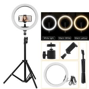 12-034-LED-Studio-Ring-Light-Dimmable-Light-Photo-Video-Lamp-Kit-For-Camera-Shoot