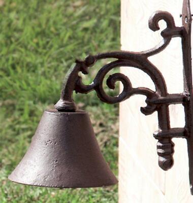 Wandglocke Kleine Garten Glocke im Nostalgie Stil aus Gusseisen Türglocke