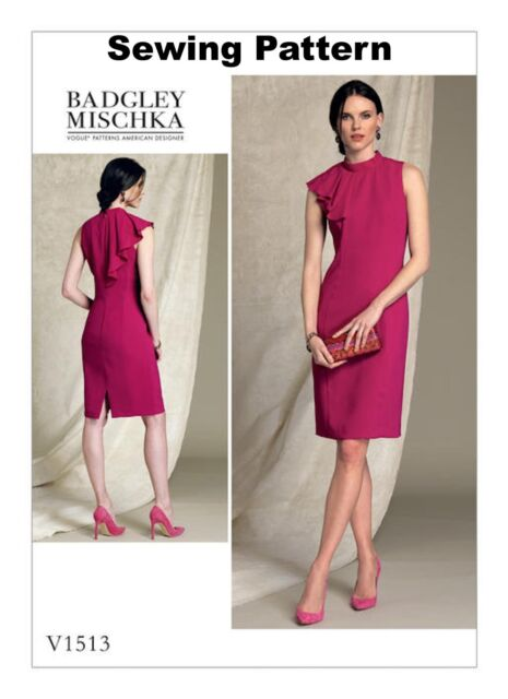 d4e8f773bee3 Vogue V1513 Badgley Mischka PATTERN - Misses Misses Petite Dress - Size 6-22