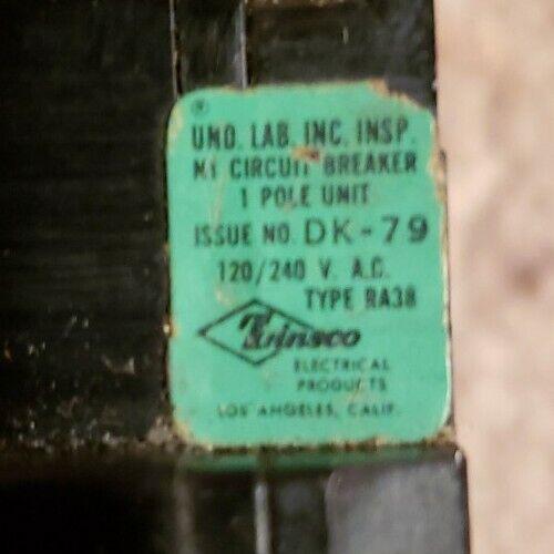 ZINSCO  Magnetrip  RA-38 1P 20a Type Q Circuit Breaker. Lot of 6