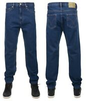 New Men's Boston Workwear Denim Jeans Regular Fit All Sizes Black & Stonewash