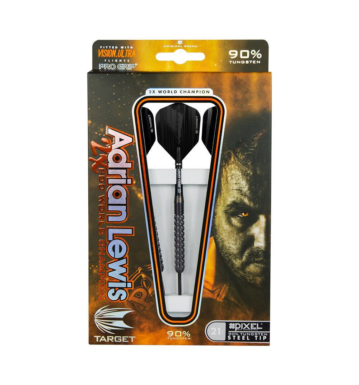 Target Adrian Lewis Pixel Grip Steel Tip Darts