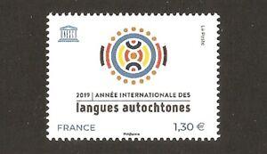 FRANCE 2019 Timbre de Service UNESCO N° 176 Langues Autochtones NEUF** LUXE