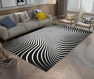 Floor Mat Black White Lines Giddiness