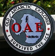 """Antarctica OAE 4"""" Patch, Old Antarctic Explorer in Gray"""
