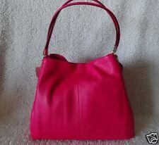 Coach Madison Leather Pink Ruby Small Phoebe Handbag Purse Shoulder F34495 New
