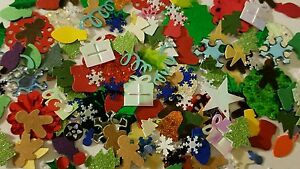 Christmas-Mix-small-scrapbooking-cuts-punches-assorted-lot-DIY
