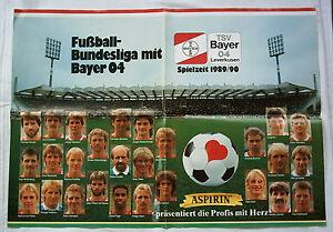 Orig-Poster-BAYER-04-LEVERKUSEN-Saison-1989-90-62-x-44-5-cm-SELTEN