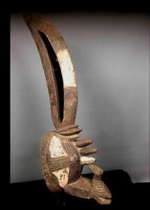 Antiguo Tribal Gurunsi espíritu de la máscara de Bush --- Burkina Faso BN 48
