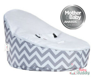 Miraculous Details About Baby Bean Bag Chair For Kids Pre Filled With 2 Covers Harness White Grey Zig Zag Cjindustries Chair Design For Home Cjindustriesco