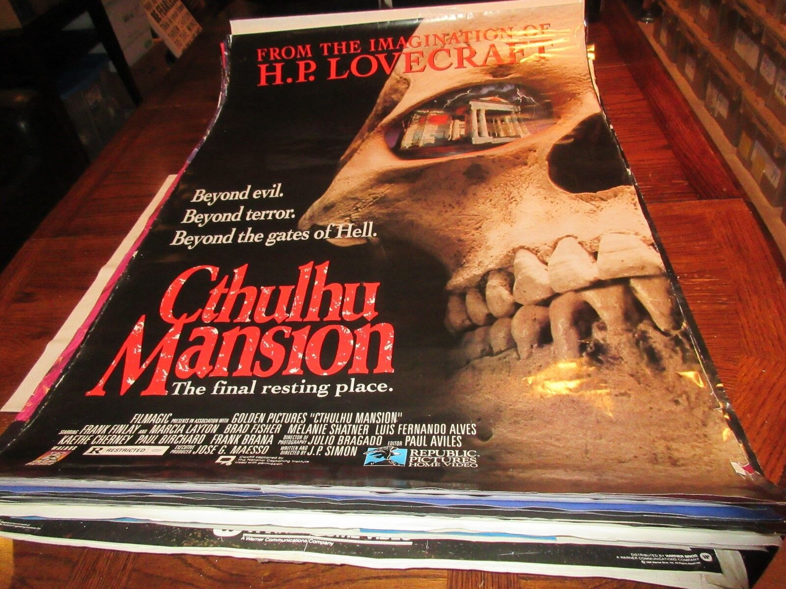 Othulhu Mansion , Frank Finley , Marcia Layton , POSTER