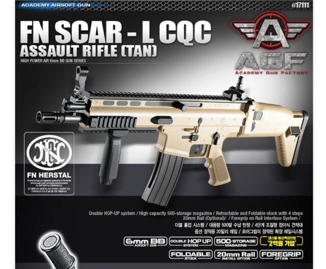 Academy FN Scar-l CQC Tan Airsoft Gun Rifle #17111