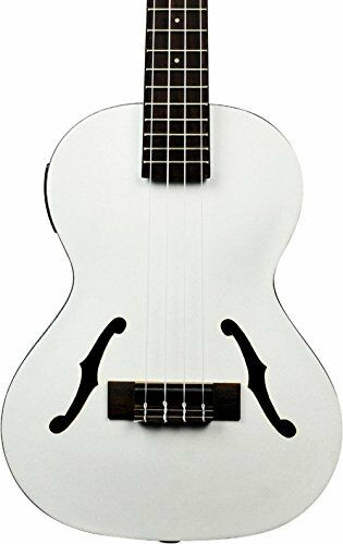 Kala KA-JTE MTW Archtop Tenor Ukulele - Metallic White NEW + FREE 2DAY SHIPPING