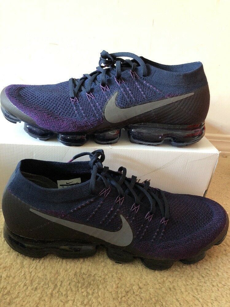 Nike Air Vapormax Flyknit size 15 College Navy Dark Grey Purple. 899473-402. New shoes for men and women, limited time discount
