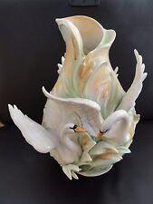 Franz Porcelain Southern Splendour Swan Vase - FZ01552E  AMAZING RARE ITEM