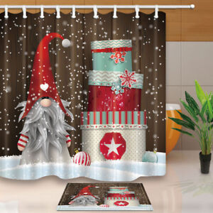 Image Is Loading Elf Dwarf Santa Claus And Xmas Gift Bathroom