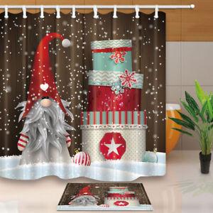 Image Is Loading Elf Dwarf Santa Claus And Xmas Gift Bathroom