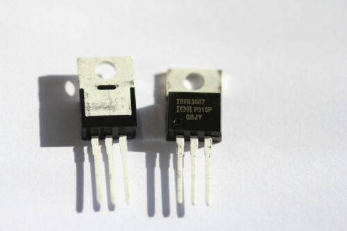 1 PCS OF NEW  IRFB3607 IRFB3607PBF TO-220 MOSFET N-Channel 80A 75V Transistor