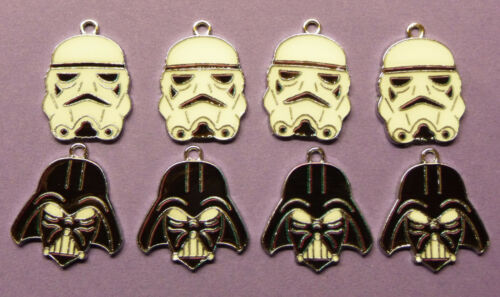 STAR WARS DARTH VADER STORMTROOPER Metal Charms jewellery Party Bags choose no.
