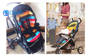 Baby Cotton Stroller Seat Urine Pads Car Mat Kids Chair Cushion Cart Cover
