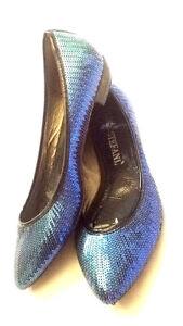 5e4543d3f5e7 Ballerine 37 Usate Tacco Con Blu Paillettes Stefani Cm N° 2 Luca I654w
