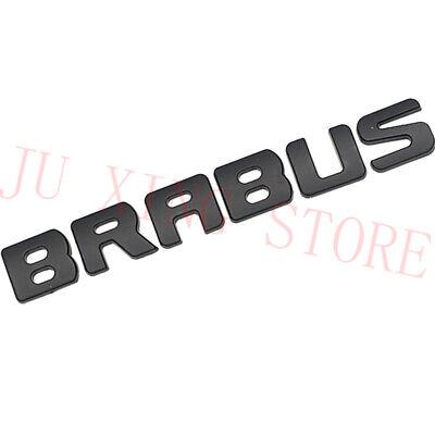 matte black BRABUS High quality Rear Trunk Emblem Decal Badge FOR Mercedes Benz