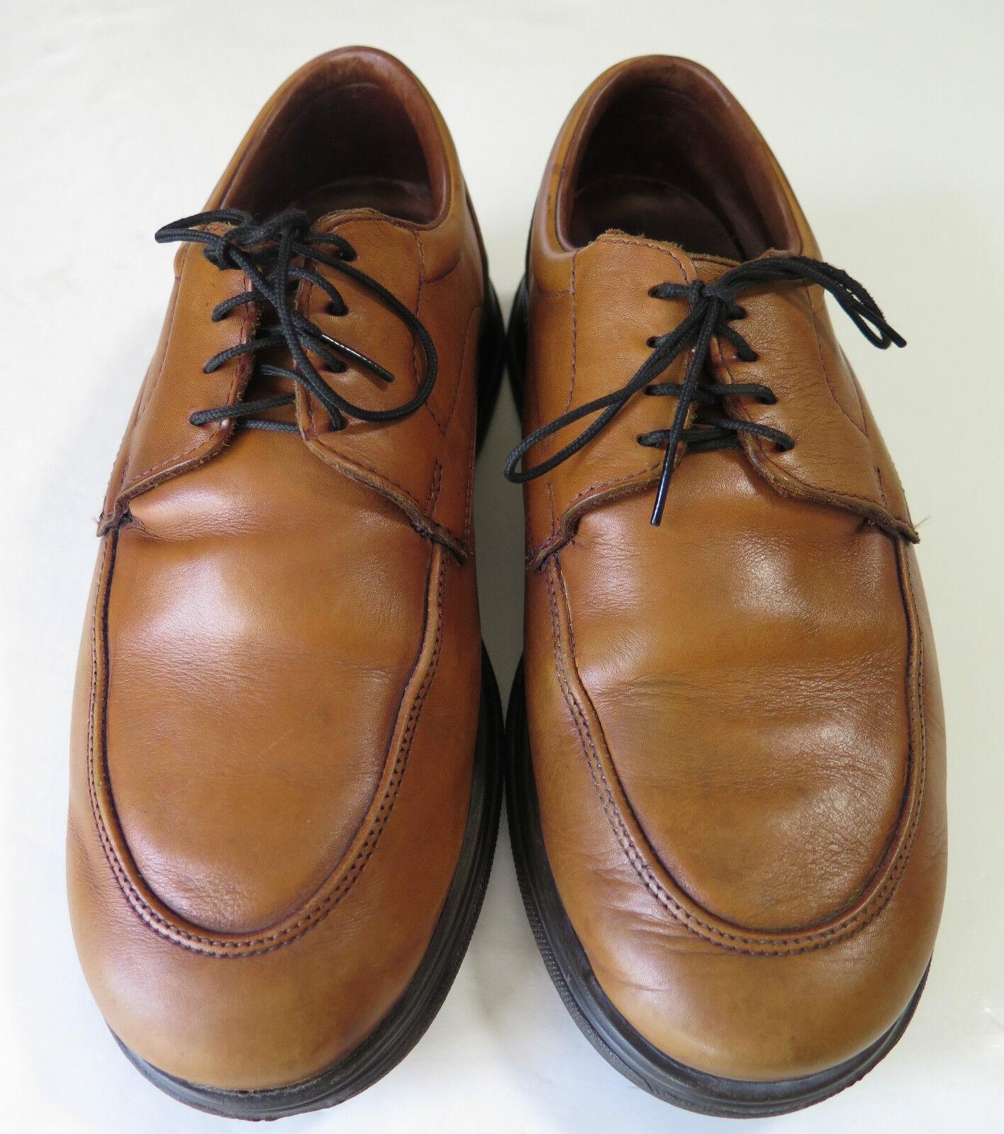 Allen Edmonds Light Brown Lace Up Rubber Sole Oxford Dress Casual shoes Size 9 D