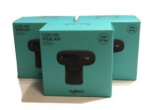 Logitech-C270-Webcam-HD-720p-Plug-amp-Play-HD-NEU-mit-OVP-und-Rechnung