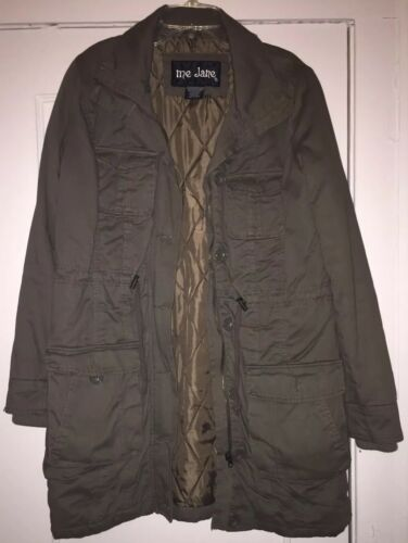 Me Jane Olive Green Military Trench Coat/Jacket S… - image 1