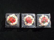 "3"" Artificial Strawberry/Blueberry Tart w/Cream"
