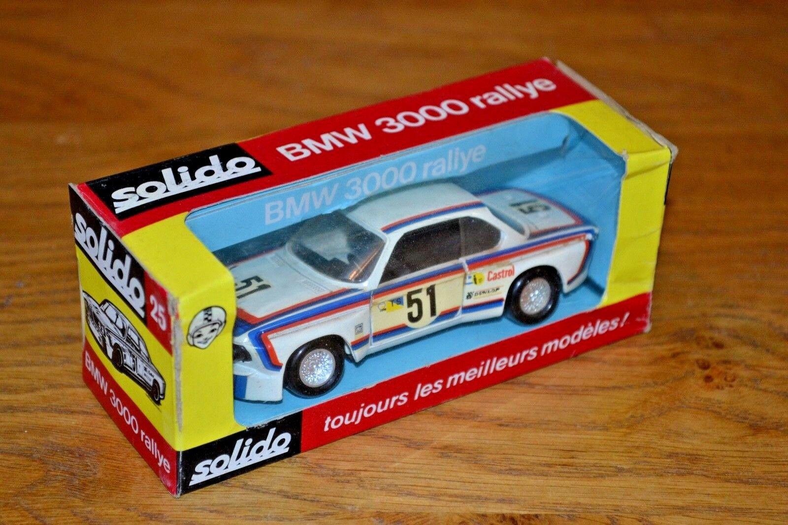 Vintage 1 43 Boxed Solido BMW 3000 Rallye; No 25;  Very good condition