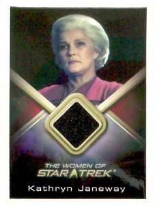 WOMEN-OF-Star-Trek-costume-trading-card-KATHRYN-JANEWAY-Kate-Mulgrew-WCC2-black