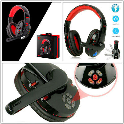 New Wireless Bluetooth Gaming Headset Headphones Stereo W Mic For Pc Mobile Ebay