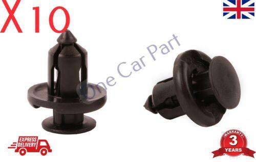 10x Clip HONDA TOYOTA LEXUS 10mm plastica rivetto Fastener paraurti Clip