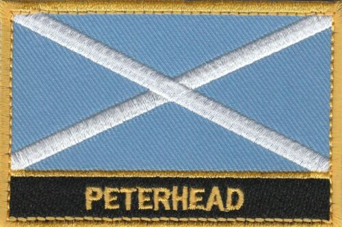 Peterhead Scotland Town /& City Embroidered Sew on Patch Badge