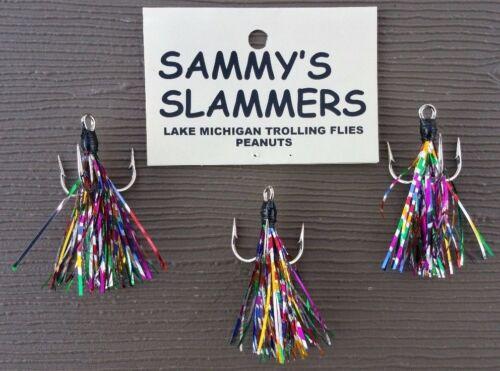 Three Trolling Peanut Flies For Salmon Trout **Sammys Slammers** 3