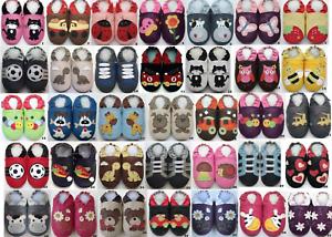 Krabbelpuschen-Leder-Schuhe-Hausschuhe-Lederpuschen-Puschen-Minishoezoo